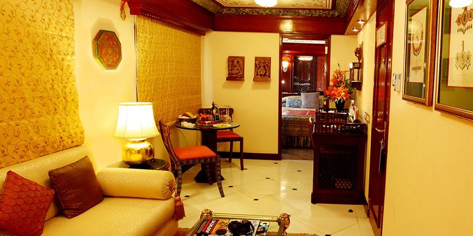 Cadre digne d'un hôtel 5 étoiles du Maharajas' Express