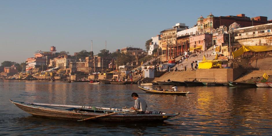 Un paysage typique de Varanasi