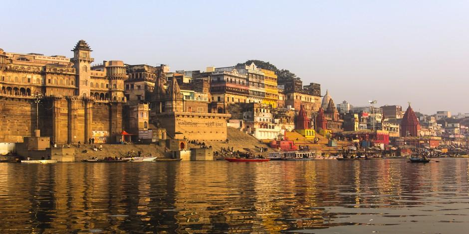 Le principal ghat de Varanasi