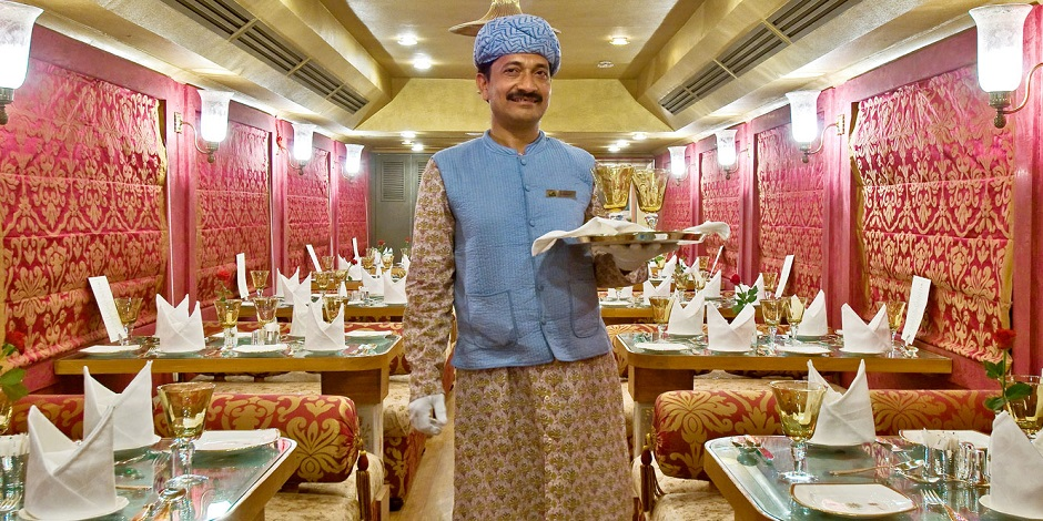 Wagon restaurant du Train Royal Rajasthan on the wheels
